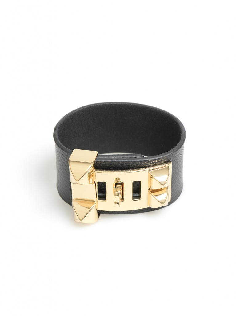 Buckle and Latch Leather Bracelet