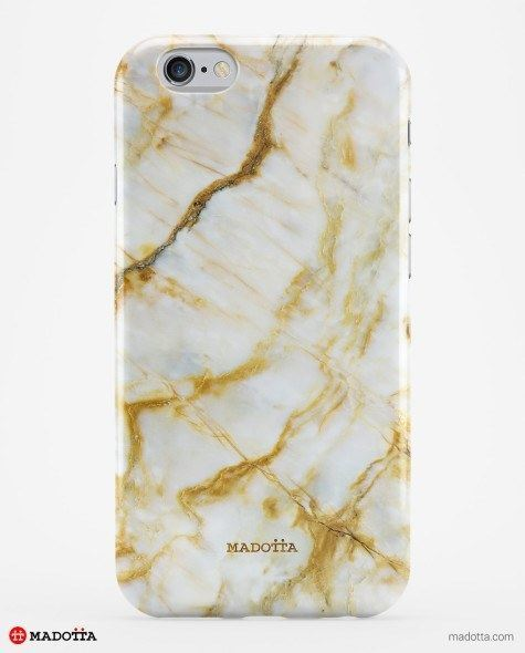 Gold Marbled iPhone Case