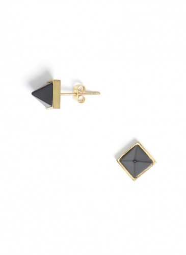 Chiseled Pyramids Earring