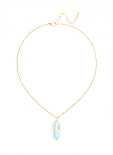 n1573_tq_Vertical Stone Ways Necklace
