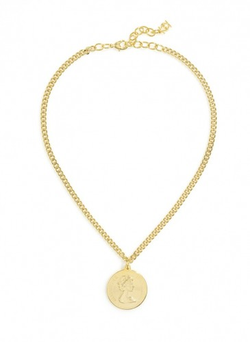 n1657_gldLucky Lady Medallion Necklace