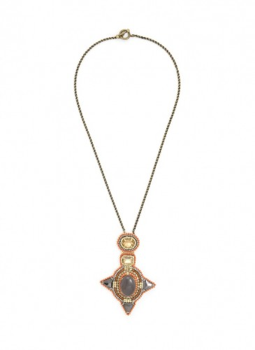 n1760-brn Star Studded Necklace