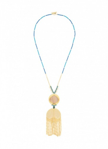 n1762-gld Fringing Glory Pendant Necklace