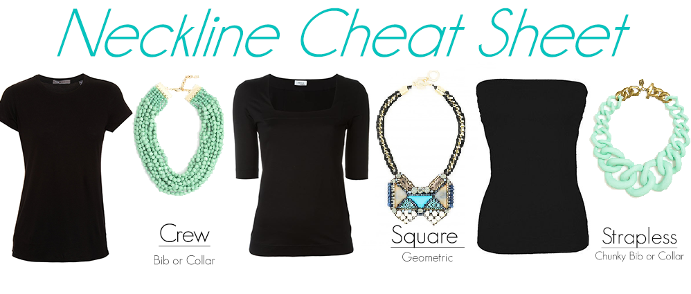 Neckline Cheat Sheets